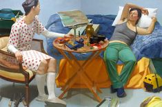 Scott Noel, Octavia and Antonia Divide the Empire, oil on linen (two panels), 72 x 108 inches
