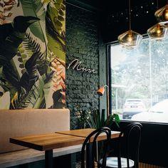 Coffee Shop Interior Design, Coffee Design, Bakery Design, Restaurant Design, Coffee Shop Names, Coffee Shop Aesthetic, Cozy Cafe, Tropical, Retail Design