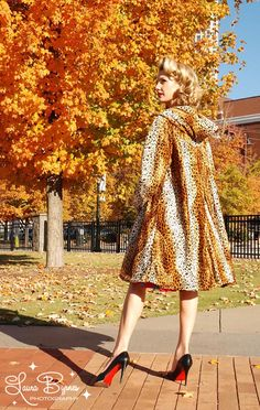 hooded leopard car coat - Pinup Couture