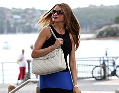 Sofia Vergara Chanel White Flap Bag