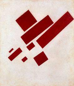Kasimir Malevich (Kazimir Malevich) >> Peinture suprématiste. Huit Rectangle Rouge  |  (huile, reproduction, copie, tableau, oeuvre, peinture).