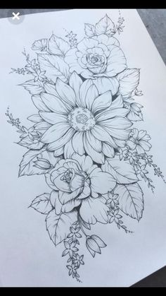 504 Best Drawing Flowers Images In 2019 Flower Designs Drawing