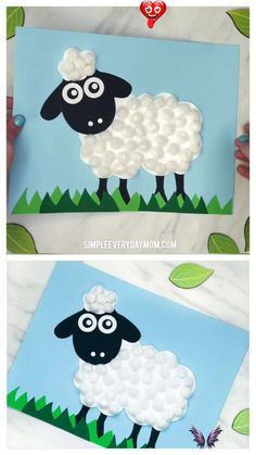 Easy Pom Pom Sheep Craft Pom Pom Sheep Craft For Kids | Preschool, kindergarten and elementary children will love making this cute sheep craft for spring or Easter. It's a fun art project kids can do at home or in the classroom.   #kidscrafts #craftsforkids #kidsactivity #kidsactivities #sheepcrafts #eastercrafts #eastercraftsforkids #preschool #preschoolers #preschoolcrafts #kindergarten #teachingkindergarten #elementary #ece #springcrafts #teaching #teacher #artforkids #kidsart<br> This… Bee Crafts For Kids, Mothers Day Crafts, Easter Crafts For Kids, Toddler Crafts, Preschool Crafts, Art For Kids, Easy Crafts, Arts And Crafts, Preschool Kindergarten