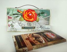 МК шоколадница-чемодан в технике скрапбукинг