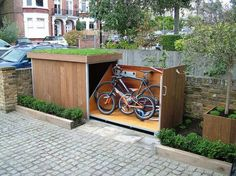 21 Most Creative And Useful DIY Garden Tools Storage Ideas Save your time and money and stop finding the gardening tools you misplace by trying one of these clever DIY Garden Tool Storage Ideas! Outdoor Bike Storage, Outside Storage, Bicycle Storage, Garden Tool Storage, Diy Storage, Garden Tools, Storage Ideas, Storage Place, Garage Storage