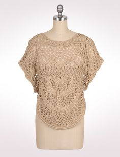 Misses   Sweaters   Open Crochet Capelet   dressbarn
