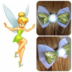 Hey, I found this really awesome Etsy listing at https://www.etsy.com/listing/187886947/handmade-hair-bow-disneys-tinkerbell
