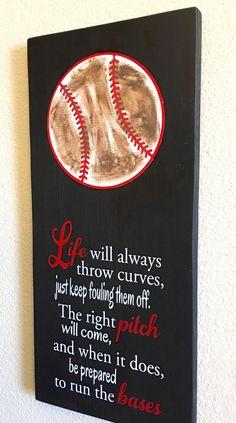 Leven zal altijd gooien curven honkbal/softbal teken door NARSCH