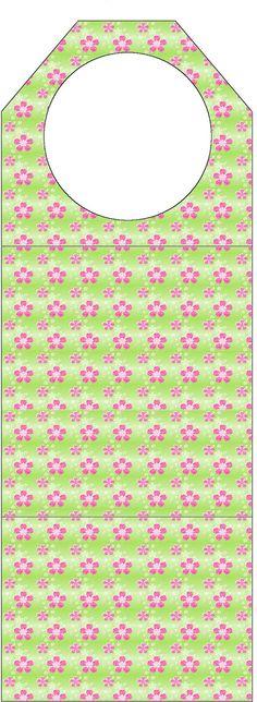AQUARELINHA: Kit Flor verde e rosa