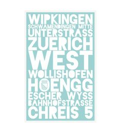 Der «Zürich» Kunstdruck ist ein hochwertiges Siebdruckposter der City Districts Serie.   Die Stadt Zürich ist nicht nur eines der grössten Geschäftszentren Europas, sondern hat mit seinen zahlreichen Galerien, Theatern und Messen auch eine lebendige Kulturszene.