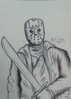 #FridayThe13th #JasonVoorhees #friday #january13th #jason #art #artwork #sketch #drawing #CardeisArs #AlessandroCarducci #pichoftheday