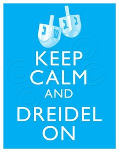 Dreidel On :-)  I'll use this as a Hanukkah decoration