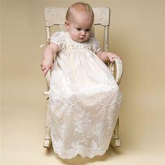 69.90$  Buy here  - 2016 New Handmade Ivory Color Birthday Baby 100% Silk Ribbon in Gold Dress Baby Girl Christening Gowns Baby Girl Baptism Dresses