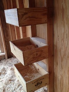 Wine Crate Nest Boxes