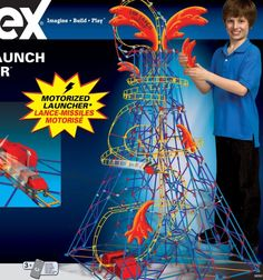 K'Nex Lava Launch Coaster - The KNEX Lava Launch Coaster is an all-new roller coaster building set that features an explosive, motorized blaster! Shaped like a volcano and towering over 4+ feet high, the Lava Launch Coaster provides powerful performance that matches the thrilling building experience. This set includes...