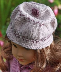 American Doll Free Knitting Patterns   Lovely knitting pattern for your doll in 2 lilac colors