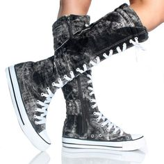 Shoes heels cute shoes flats,converse shoes women shoes white,women shoes 2017 rubber shoes for women. Outfits With Converse, Converse All Star, Converse Shoes, Adidas Shoes, Custom Converse, Emo Outfits, Work Outfits, Knee High Converse, Knee High Boots