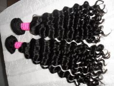 "100% Authentic Virgin Brazilian Remy Hair Curly /deep wave 14"" #1b by sleek Hair. $65.01. Our deep wave Brazilian machine wefts are created using 100% virgin Brazilian hair that has not been treated with any chemicals so that you know you are getting the very best waves for your hair. The waves are so deeply set that they give your hair a waterfall appearance that is soft and also very easy to manage. The wefts can be cut by your stylist in order to help you create th..."