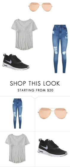 """Untitled #6"" by getxfreex on Polyvore featuring Lipsy, Linda Farrow, Aéropostale and NIKE"