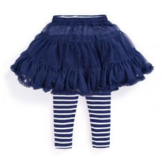 Ruffle Tutu with Striped Leggings by JoJo Maman Bébé at Gilt Kids Outfits, Summer Outfits, Summer Clothes, Baby Skirt, Fall Capsule Wardrobe, Tutus For Girls, Striped Leggings, Cotton Skirt, Cheer Skirts