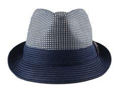 Mens Big Size 2 Tone Summer Straw Fedora Trilby Hat XL(60cm) XXL(62cm) 2  Colors - Blue - CB11YC0BJJ7 c8b0f24dcd8a