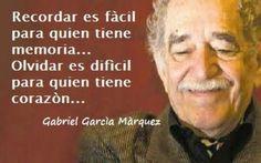 """Inspiración de Gabo - """"recordar vs. olvidar"""""""