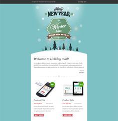 This Holiday And Christmas Email Template Includes A Responsive