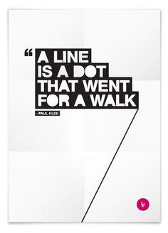 Line is a dot by tasos ritos, via Behance