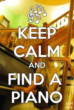 Because sometimes finding a piano is the only thing that will make me calm. Sound Of Music, Music Is Life, Good Music, My Music, Music Memes, Music Quotes, Piano Lessons, Music Lessons, Piano Quotes