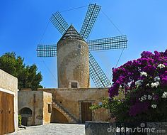 Old windmill Majorca, Spain
