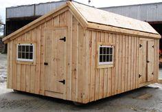 Storage Shed DIY PLANS, 12x20 Saltbox Workshop, Garden Shed,