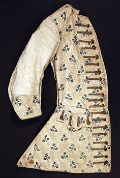 Men's waistcoat,silk,metallic thread  3rd quarter of the 18th century  metropolitan museum