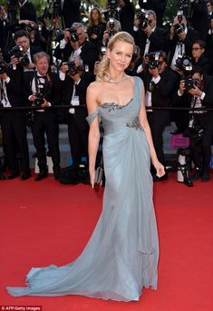 All that glitters: Naomi Watts wows in her embellished Marchesa dress as she attends the How To Train Your Dragon 2 premiere in Cannes on Friday