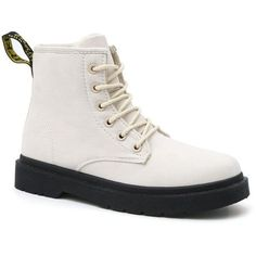 Off-white 36 Women'S Warm Cotton-Patted Ankle Lace Up Snow Boots (1.060 RUB) ❤ liked on Polyvore featuring shoes, boots, ankle booties, lace-up booties, vintage white boots, laced boots, laced up boots and lace up boots