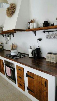 My lovely kitchen White Kitchen Cabinets Backsplash Kitchen Lovely Cozy Kitchen, Rustic Kitchen, Country Kitchen, New Kitchen, Kitchen Interior, Kitchen Hair, Hacienda Kitchen, Kitchen Ideas, Mexican Kitchen Decor