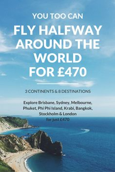 BUDGET TRAVEL: It only costs £470 ($670) to explore 3 continents and 8 destinations! This is how you can easily replicate my travel plan (or get inspired to find your own cheap flights). Explore Brisbane, Sydney, Melbourne, Phuket, Phi Phi Island, Krabi, Bangkok, Stockholm and London.  Direct link: http://thelondonsecret.com/fly-halfway-around-the-world-for-470-pound/