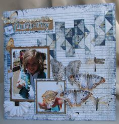 """Flutterby"" Layout by Authentique Paper DT member Janeen Shember"