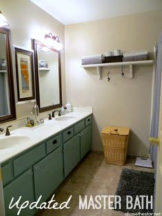 Updated Master Bathroom New #Pfister #faucets, paint, and accessories!