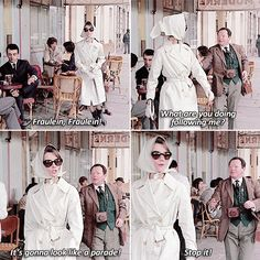 haha it looks like newman You're My Favorite, My Favorite Things, Stanley Donen, Favorite Movie Quotes, Charades, Tv Show Quotes, About Time Movie, Audrey Hepburn, Old Hollywood