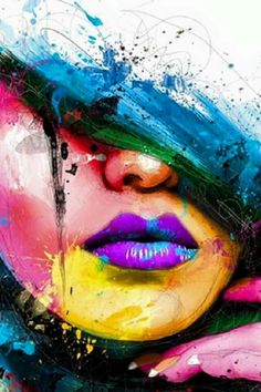 Colorful art rnrnSource by agnesjabogacka Murciano Art, Abstract Face Art, Arte Pop, Graffiti Art, Portrait Art, Love Art, Art Pictures, Painting & Drawing, Watercolor Art