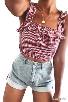 Ruffled Gingham Crop Top | Forever21