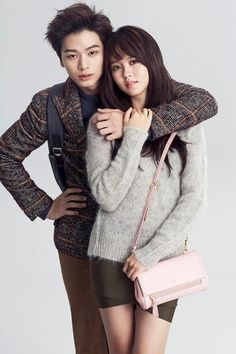 BtoB's Yook Sung Jae and Kim So Hyun for Hazzys.