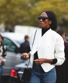 Gotta love a crisp white blazer