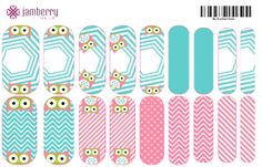 Origami Owl inspired wrap.  Design your own in the Jamberry Nail Art Studio: http://www.kimd.jamberrynails.net/nas/