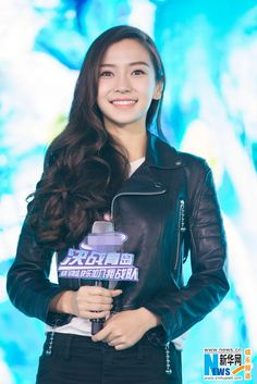 Hong Kong actress Angelababy  http://www.chinaentertainmentnews.com/2016/01/angelababy-at-event-in-qingdao.html