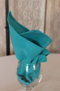 Ruffled® | See ads - Teal linen napkins - Reception