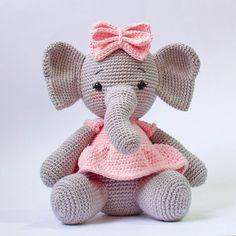 Crochet Pattern Elephant English/ Crochet Elephant PATTERN | Etsy Crochet Elephant Pattern Free, Crochet Octopus, Crochet Mask, Crochet Doll Pattern, Crochet Patterns Amigurumi, Crochet Blanket Patterns, Crochet Dolls, Afghan Crochet, Pdf Patterns
