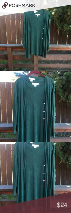 Green shirt and vest by The Limited This is a very well made, excellent condition shirt/vest combination by The Limited. The Limited Tops Blouses