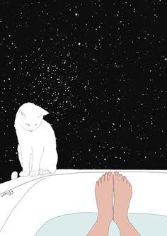 stars bath Etsy illustration for the wall by memorieswarehouse, Art Et Illustration, Illustrations, Art Pop, Art Inspo, Art Amour, Karten Diy, Art Design, Artsy Fartsy, Kitsch