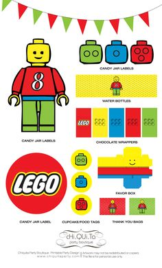 Printable Lego Birthday Party (PDF).